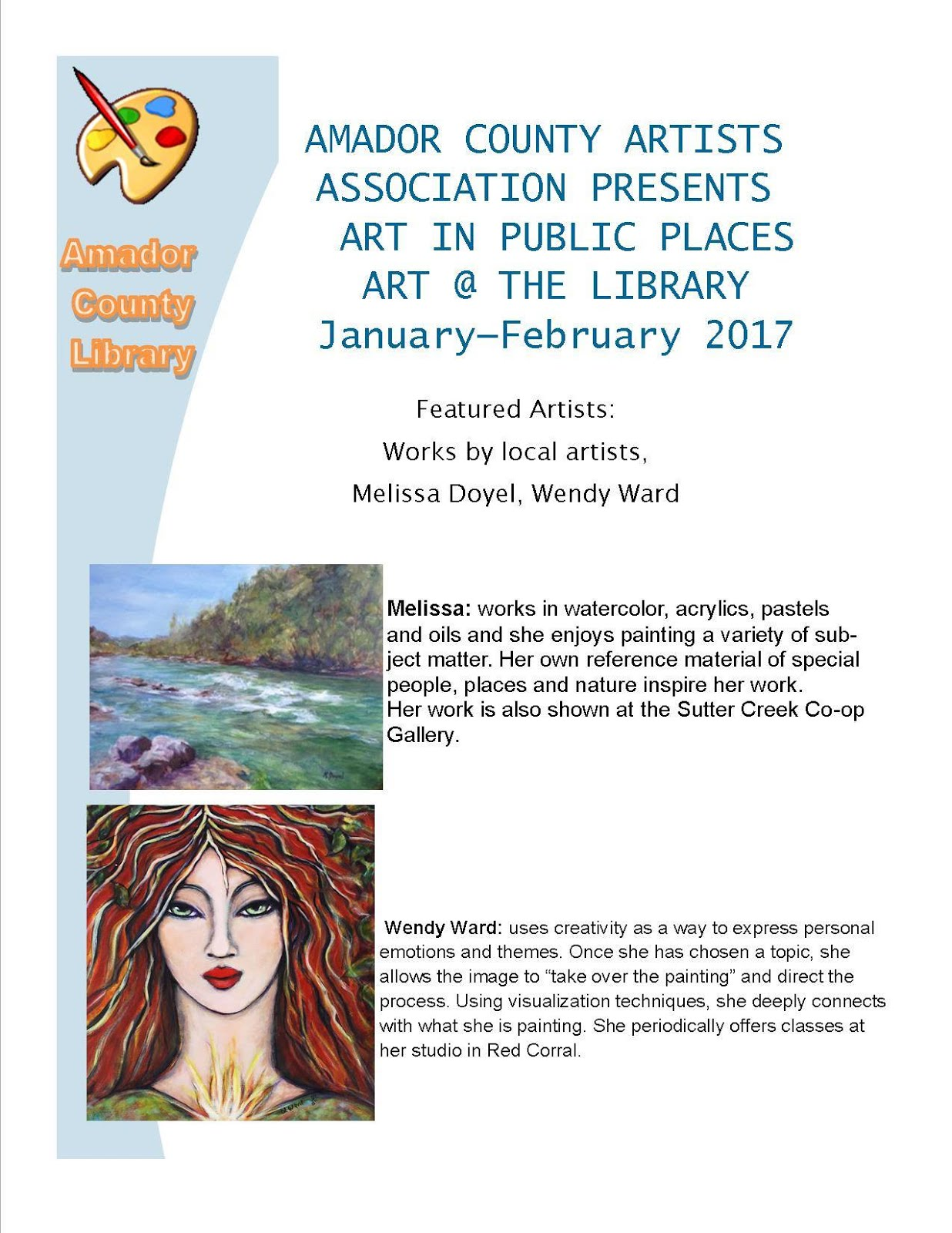 Art at the Library for Jan-Feb 2017