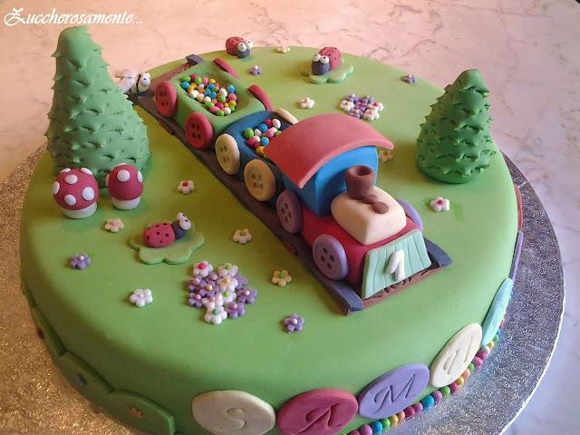 torta trenino pasta di zucchero