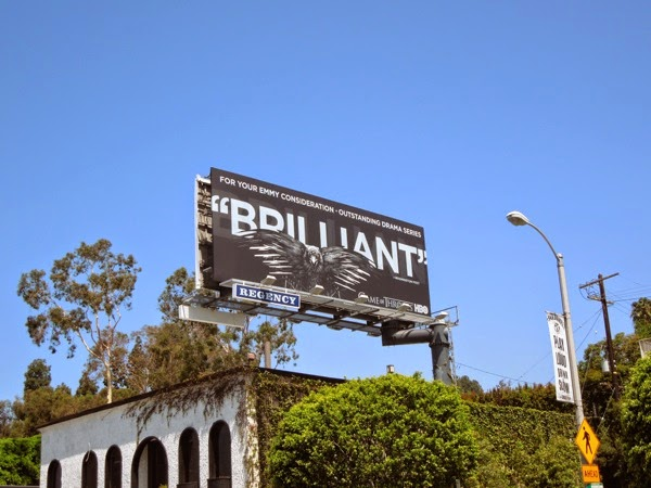 Game of Thrones Brilliant Emmy HBO 2014 billboard