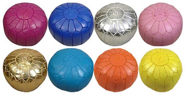 Variedad en diseño de puffs