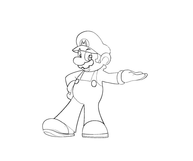 #2 Super Mario Coloring Page
