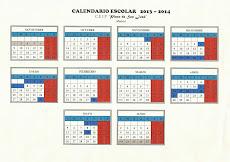 Calendario escolar Curso 2013-2014