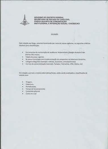 Relação de documentos para cadastro do GDF