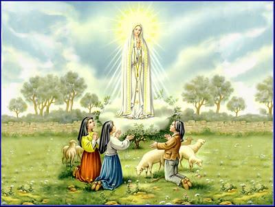 postal religiosa antigua de la Virgen María