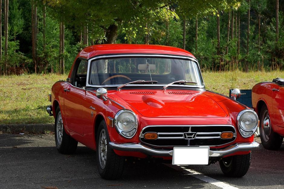 czerwona, Honda S800, klasyczny samochód, stare auto, dawna motoryzcja, oldschoolowe samochody, roadster
