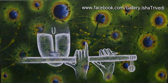 "KRISHNA 2 Painted by Isha Trivedi ""Isha Trivedi"""