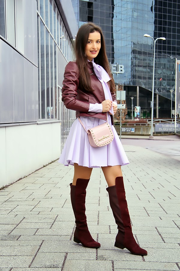 vine-red purple outfit