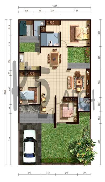 contoh desain rumah minimalis type 70 1 lantai desain