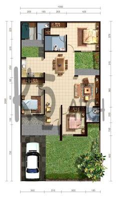 Contoh Desain Rumah Minimalis Type 70 1 Lantai