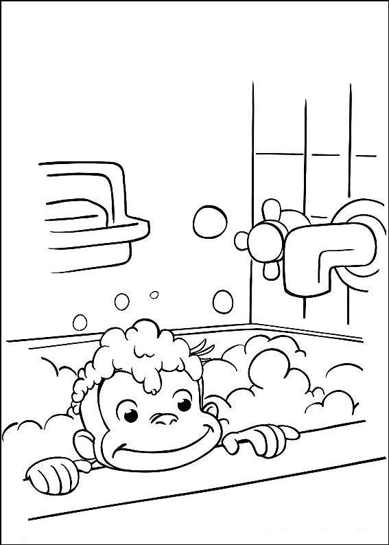 coloring pages of curious george - photo#35