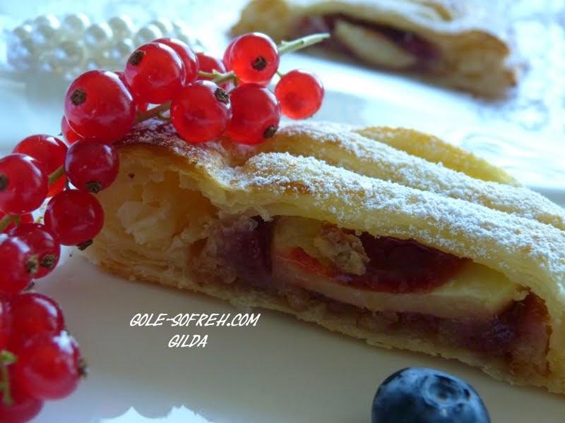 کانال پخت مربا گل سفره: کیک ساده با خمیر هزار لا