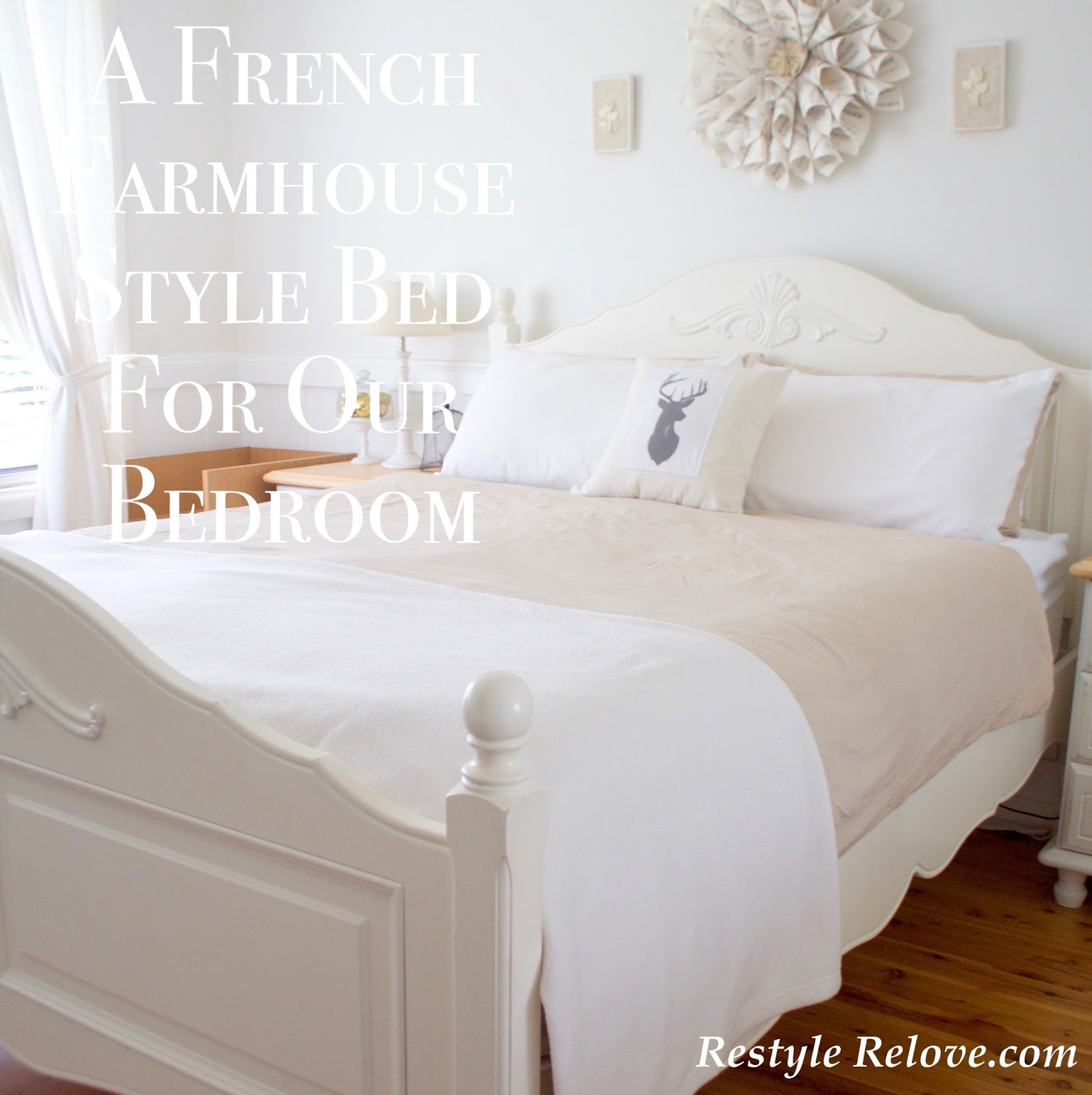 A french farmhouse style bed for our bedroom and a splash for French farmhouse bed