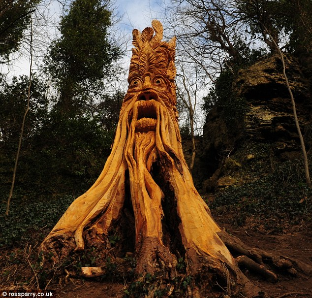 Simply creative amazing tree sculptures by tommy craggs