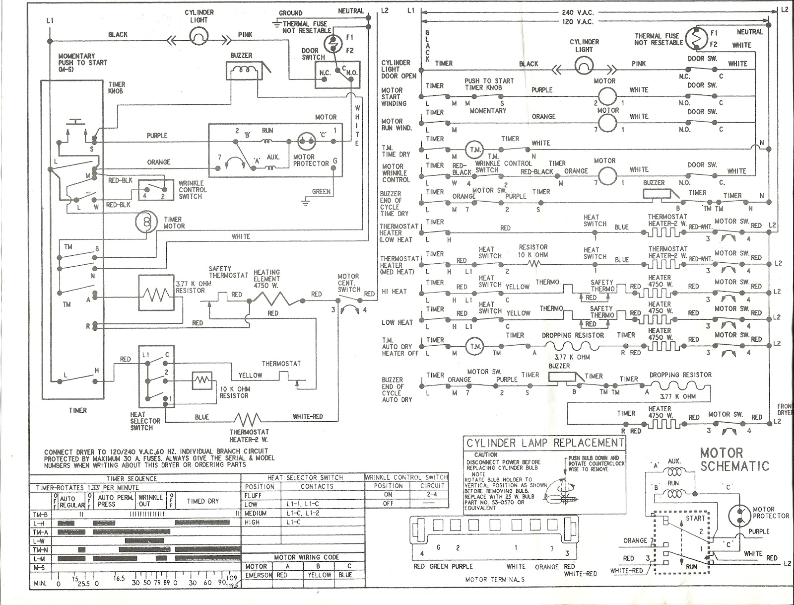 wiring schematic kenmore dryer wiring diagram options Kenmore Model 110 Diagram