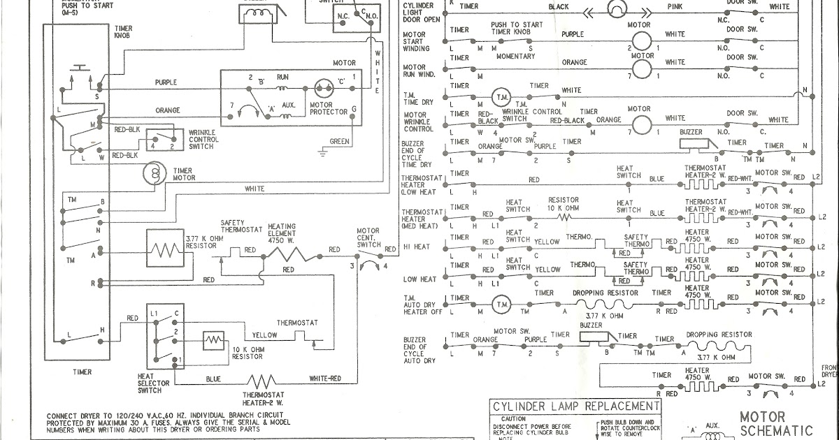 Appliance Talk: Kenmore Series Electric Dryer Wiring Diagram - Schematic