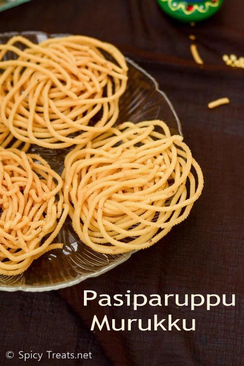 Pasiparuppu Murukku Recipe