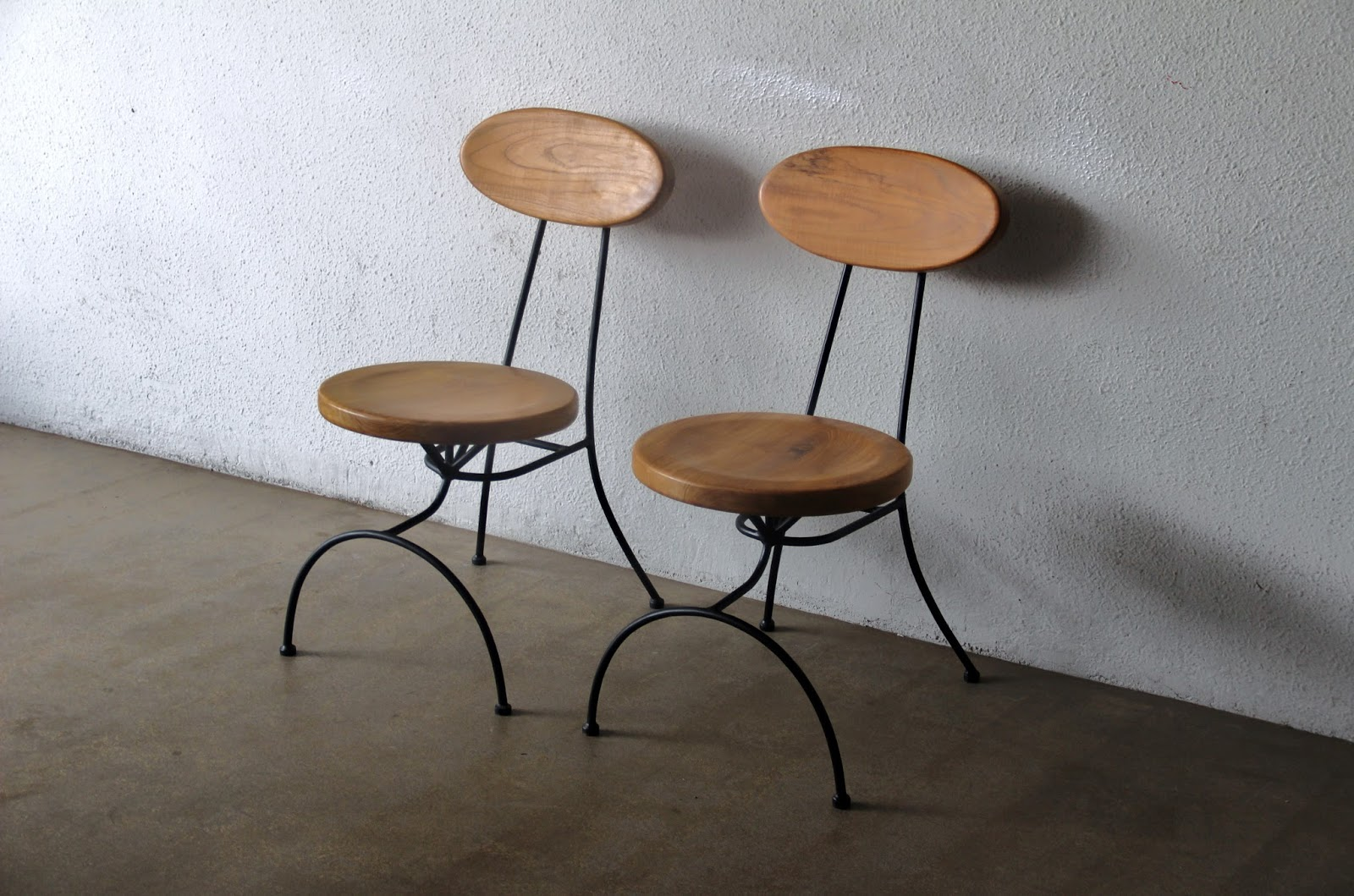 Wooden moon chairs - Second Charm Collections Combining Metal And Wood For That Industrial Look