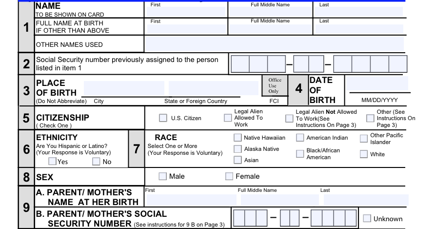 The Cousin Detective Tip Find your relatives parents using the – Social Security Application Form
