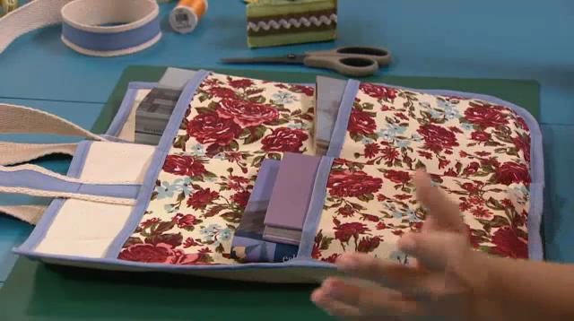 Bolsa de tecido para livros passo a passo