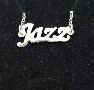 Jazz name necklace