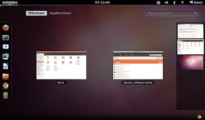 GNOME Shell Ubuntu 11.10