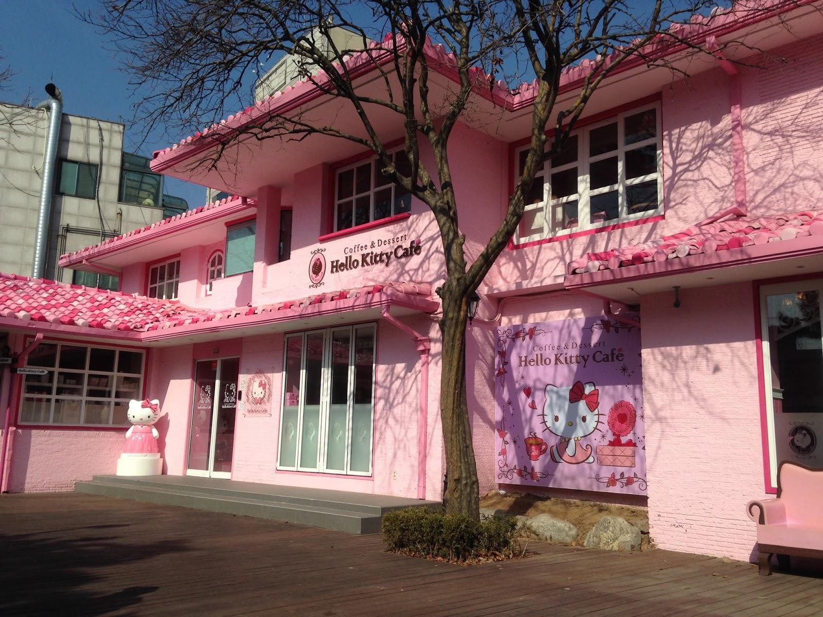 Hello Kitty Houses Real Houses trip to korea 2015 : day 5 (hello kitty cafe, itaewon mosque