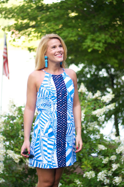 Lilly Pulitzer Annabelle Shift Dress and Design Darling Tassel Earrings