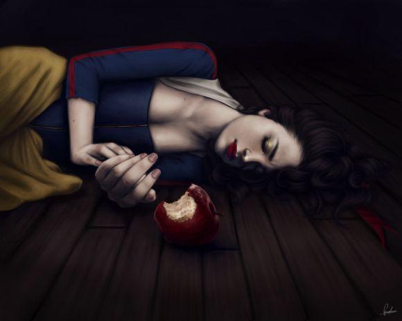 fernanda suarez ilustrações fantasia mulheres Maçã envenenada