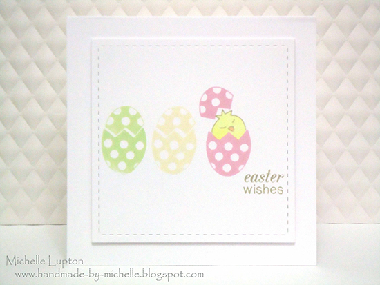 Easter card by Michelle Lupton for Newton's Nook Designs - Easter Scramble Stamp set
