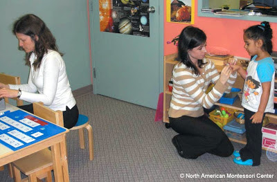 NAMC working with your montessori assistant in the classroom