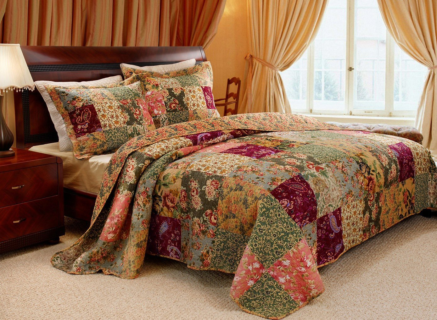 Here's the specification of bedspreads king size it:
