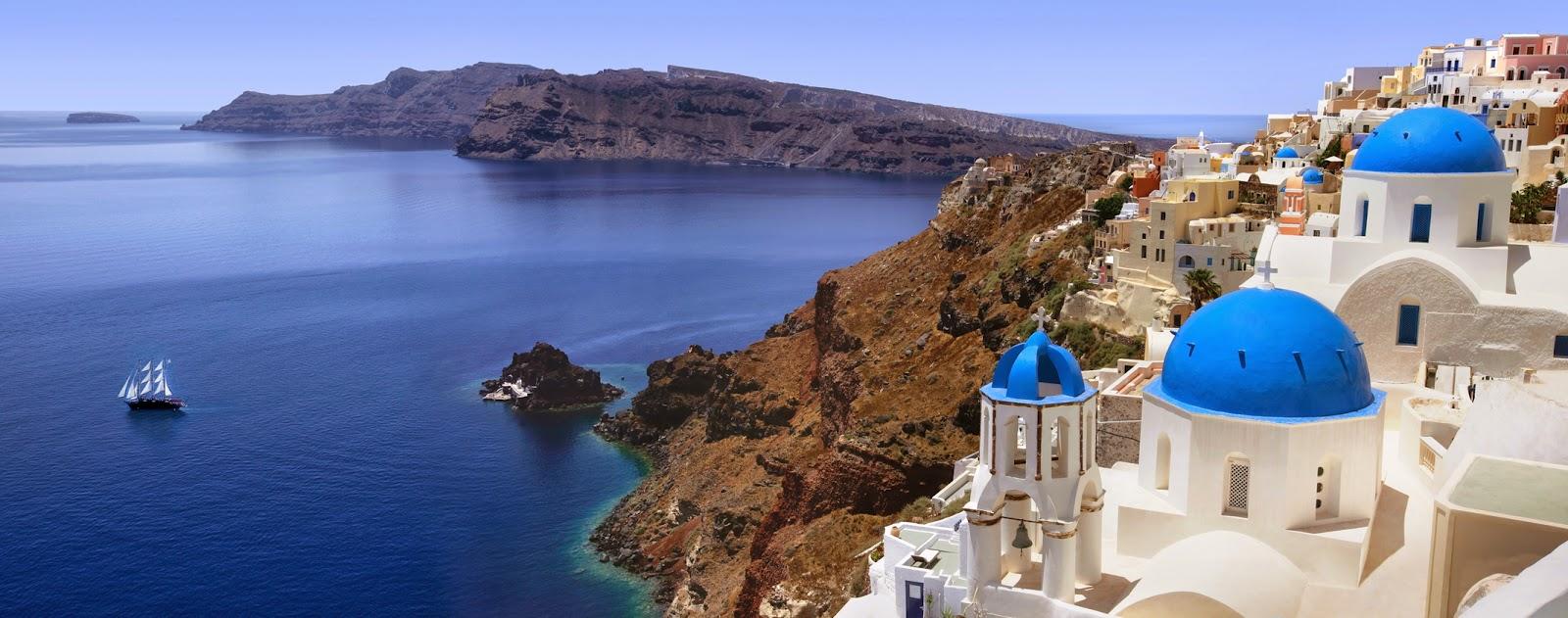 Santorini, una de las islas griegas