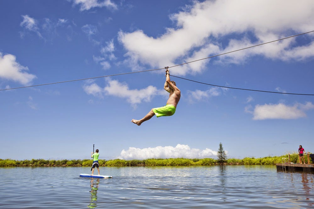 Fun in hte sun with Kaanapali Zipline's Zip n Dip adventure