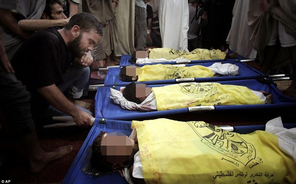 Kapal meriam peluru berpandu Israel membunuh 4 kanak-kanak di pantai Gaza