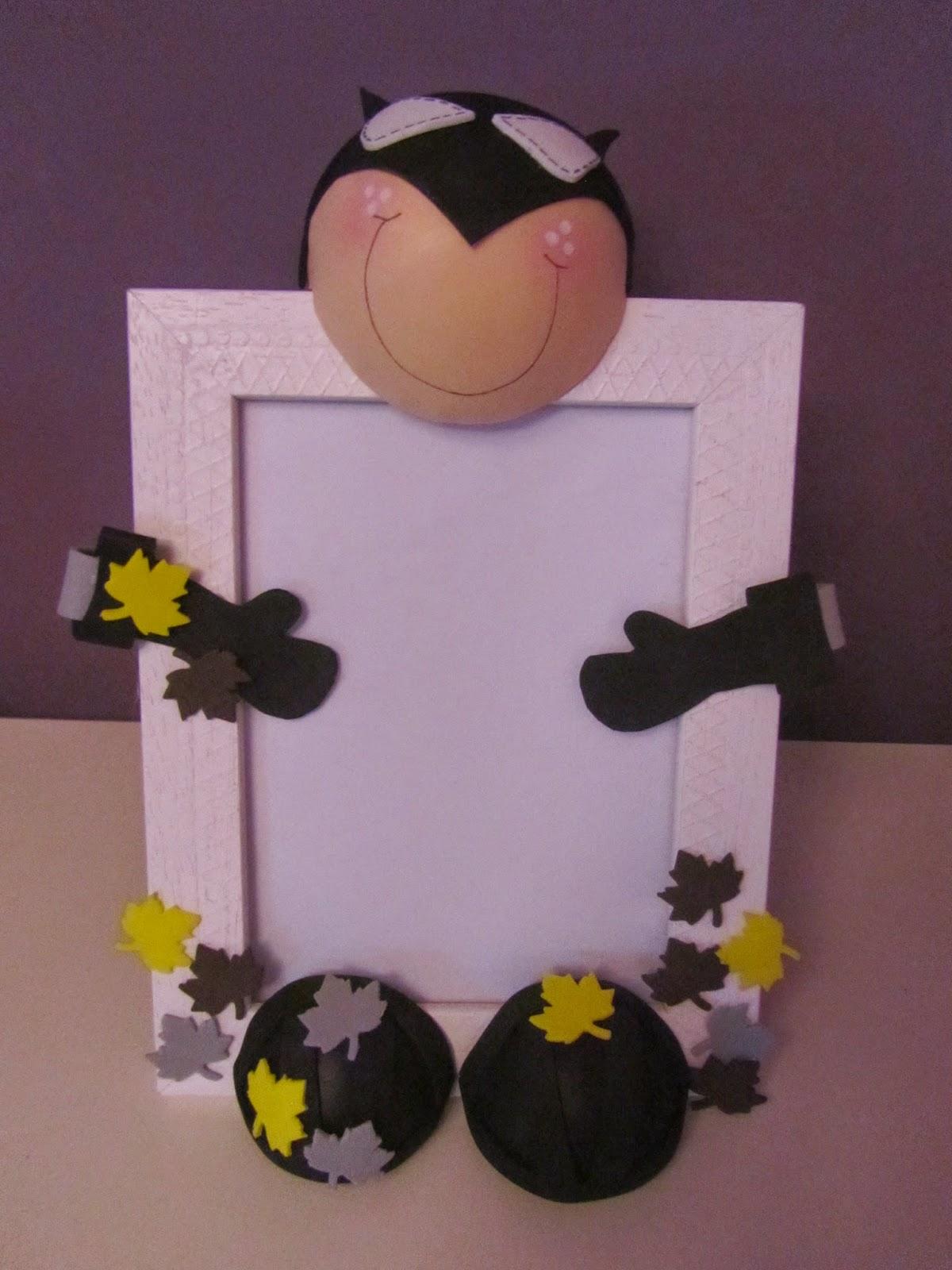 Mis peque as cosas marco de fotos infantil con goma eva - Cosas de goma eva ...