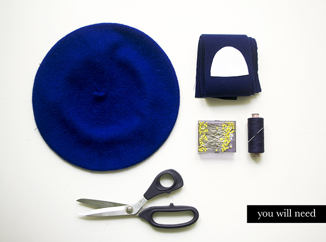 DIY Cat Ears Beret {via www.fashionrolla.com}