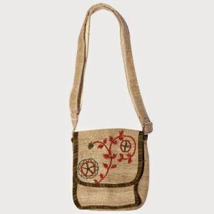 2374920be1cb Sweet Shoulder Bags  Silly yogi Mini Sling Boho Crossbody Hemp Bag Passport  Bag- Natural-one Size