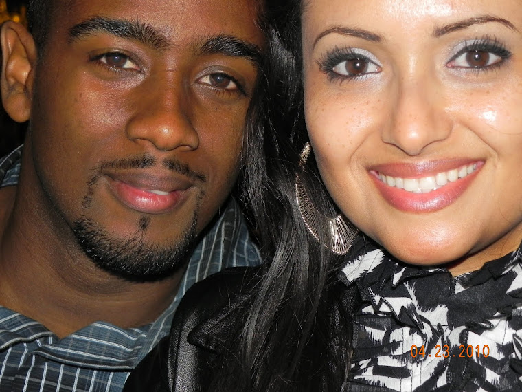 My husband DeAndre and me, Katya