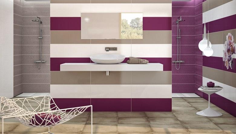 Azulejos Baño Juvenil:decorado con azulejos de colores convencionales de línea juvenil