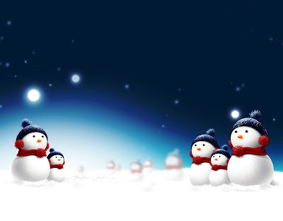 Beautiful Snowman Wallpaper