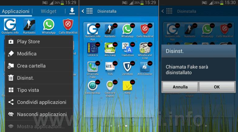 Disinstallare le app Android dalla schermata Applicazioni