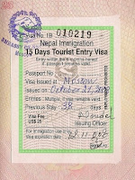 Nepal Visa Sample
