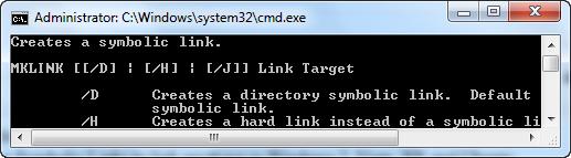 symbolic link cmd