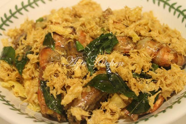 udang goreng butter buttered prawn oleh azie kitchen sarang telur