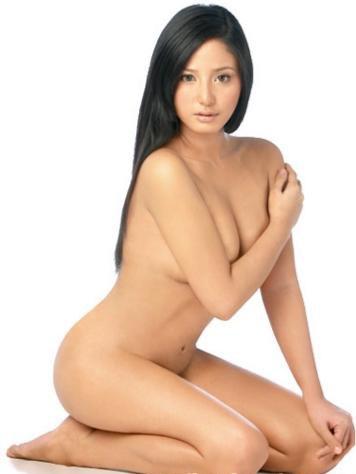 Skinny girls long black hair nude