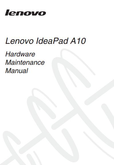 Lenovo IdeaPad A10 Manual