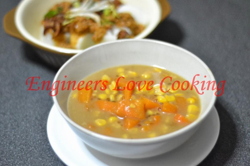 pengat keledek-jagung-sagu / sweet potato-corn-sago creamy sauce