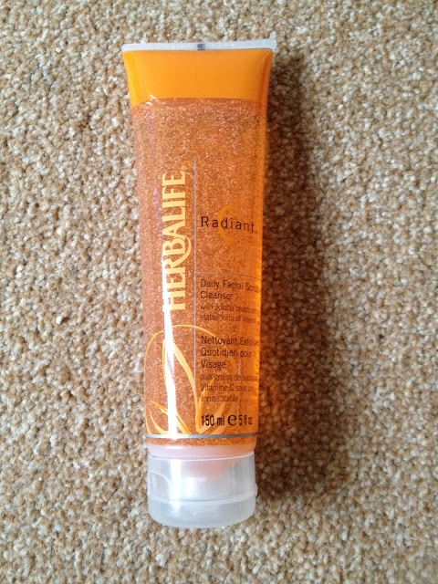 a picture of the herbalife radiant c daily facial scrub cleanser