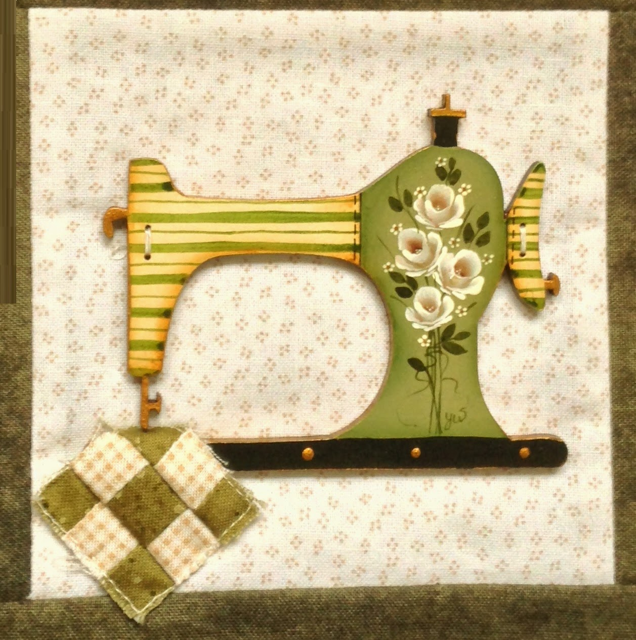 Yvonne W Designs: Large sewing Machine Buttons and a Give -away