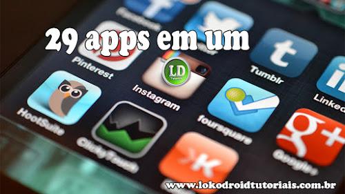 Economize espaço em seu Smartphone com o All Social media Pro 29 apps em 1